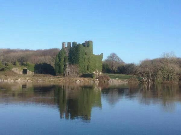 Menlo Castle by Stone Lakes Design. Calm winters day in Galway.