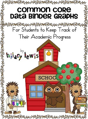 Common Core Kids: Classroom Freebies: Data Binders