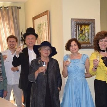 There is no need to have a huge crowd for a successful party! All generations had a great time solving a murder mystery by Questime Boston while enjoying Champagne and some delightful French cuisine. Organized by primaveradreams.com ********** #bostoneven