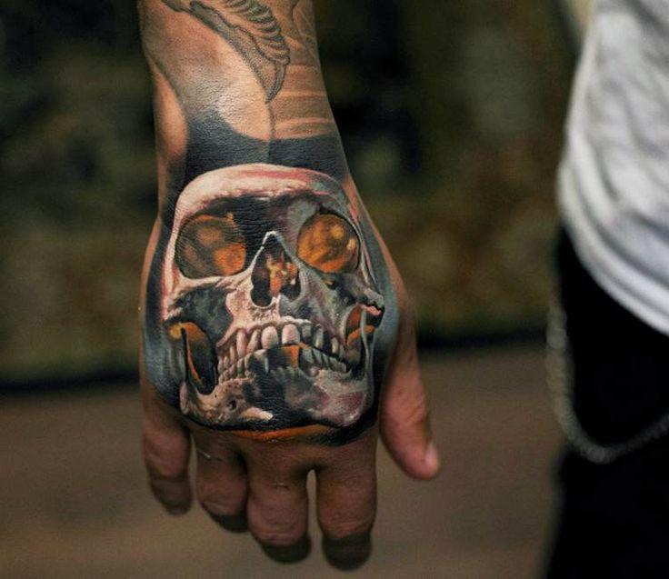 the 25 best skull hand tattoo ideas on pinterest skull hand hand makeup and makeup on hand. Black Bedroom Furniture Sets. Home Design Ideas