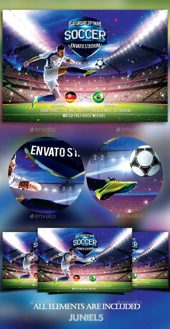 Soccer Flyer Template PSD. Download here: http://graphicriver.net/item/soccer/16041042?ref=ksioks