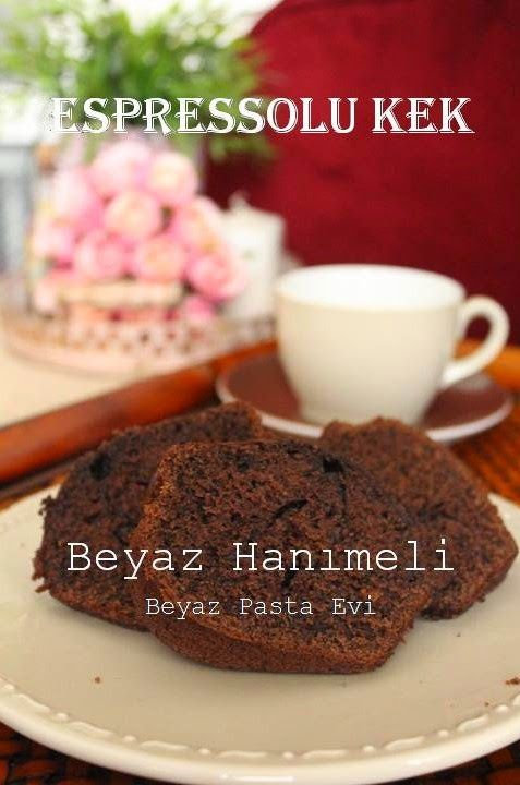Espressolu kek (Espresso cake) http://beyazhanimeli.blogspot.com.tr/2014/12/espressolu-kek.html