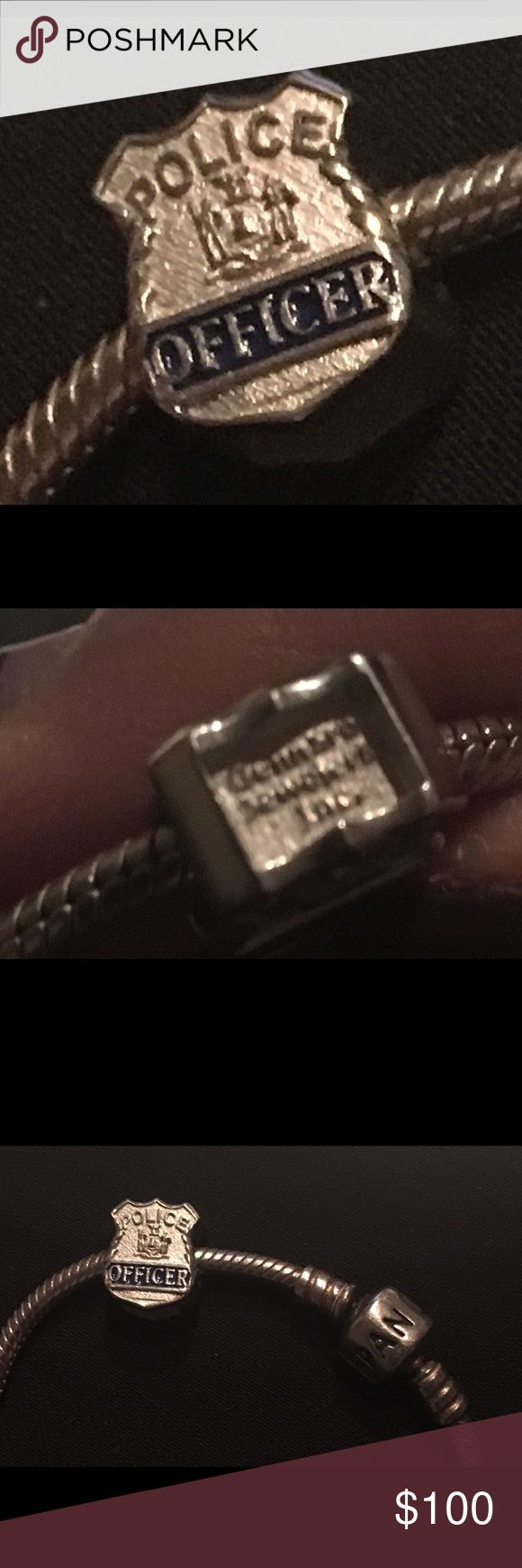 Pandora Law enforcement charm, sterling silver Fits pandora charm bracelet or any chain/bracelet with a small lock. 9.25 Sterling silver, genuine law enforcement charm. Price firm. No trades. Jewelry Bracelets