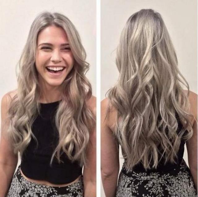 lang haar wit naakt