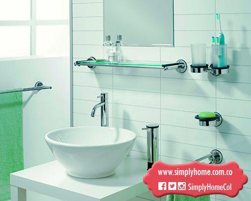 Un baño limpio y minimalista #Christmas #Gifts #Bathroom #Toilet #SimplyHome #SimplyHomeCol #Simply #Home #Decoracion
