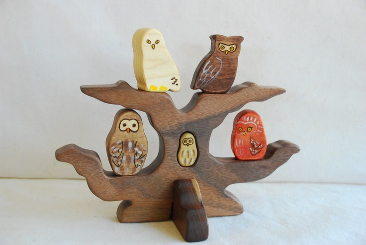 Owls In An Oak Tree