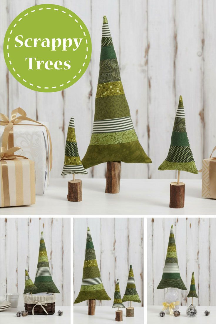 Brighten your holiday home decor with this easy scrappy tree project! Here are 5 ways to style and display them.