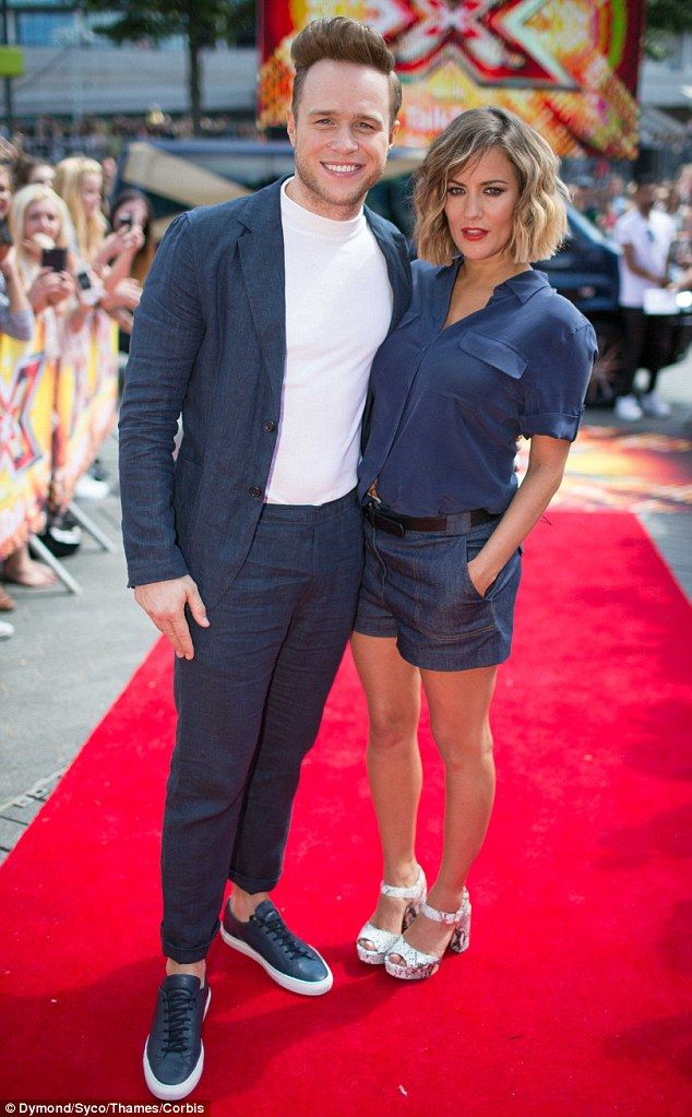 Dream team: Olly Murs and Caroline Flack arrived at the London X Factor auditions in colou...