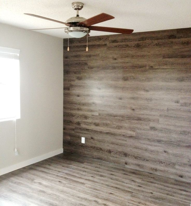 Wood Feature Accent Wall Ideas Using Flooring: Wood Plank Accent Wall