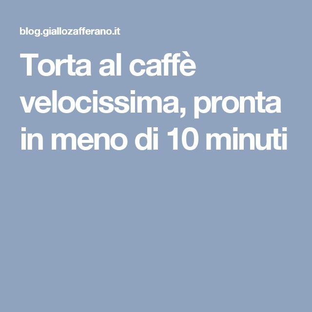 Torta al caffè velocissima, pronta in meno di 10 minuti