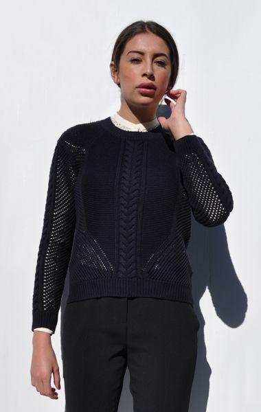 Ванесса Бруно следующее å / кабель вязать свитер