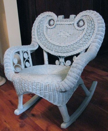 1000 Images About Wicker Rocking Chairs On Pinterest