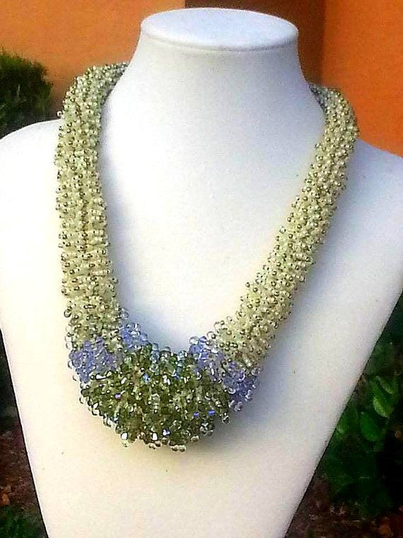 Jewelry Handmade Necklace Sophie's Garden by ABarefootBeader, $545.00