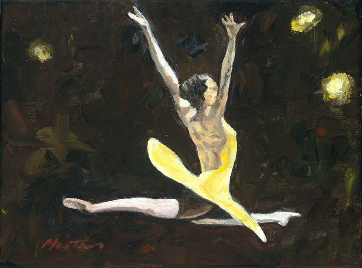 Ballet - Grande Jete    Original Painting