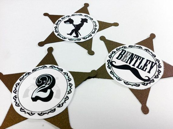 Cowboy Western Party Favor Tags by PartyBijou on Etsy, $15.00