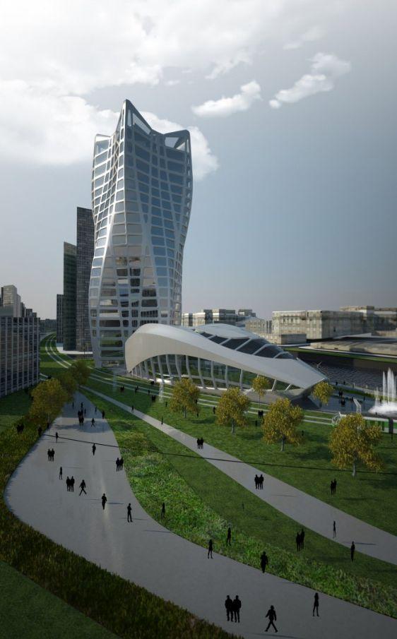 BBK Bank Headquarters in Bilbao. Zaha Hadid Architects