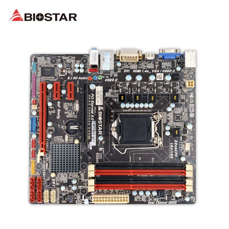 Original BIOSTAR H77MU3 Gold Edition Desktop Motherboard H77 LGA 1155 DDR3 32G SATA3 USB3.0 Micro ATX 100% Fully Test //Price: $77.79//     #onlineshop