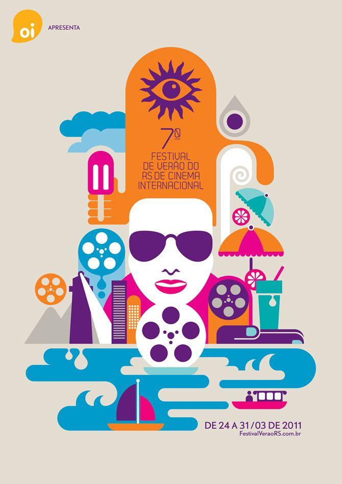 Festival de Verão do RS de Cinema Internacional 2011 #poster by Fernando Volken Togni