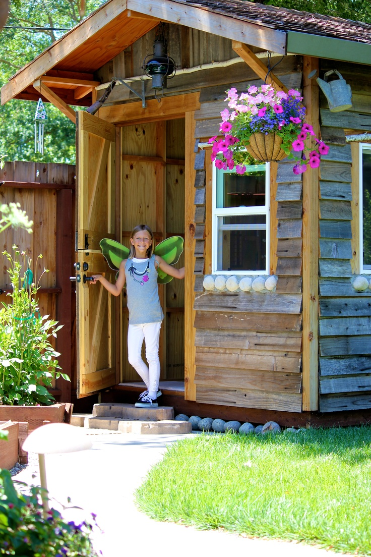 58 best playhouse sheds images on pinterest backyard cottage