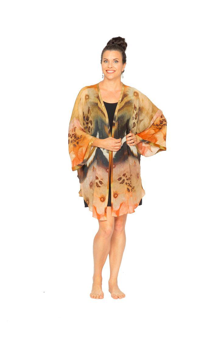 'Dusky Night' Short Kimono