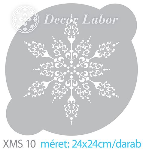 christmas stencil - snowflake - tortastencil - karácsonyi minták http://decorlabor.hu/