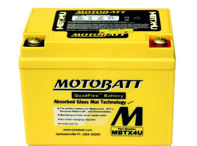 Image Batterie Gel Motobatt YTX4LBS, YTZ5S, YT4LBS, YB4LA, YB4LB, Amico, Gulliver, Derbi Senda, GPR, Runner, Stalker, Typhoon, Booster, Bws, Nitro, Aerox, Kymco 50cc