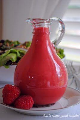 Fresh Raspberry Vinaigrette #dressing #salad