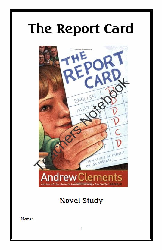 the report card book summary andrew clements Complete summary of andrew clements' the report card enotes plot summaries cover all the significant action of the report card.