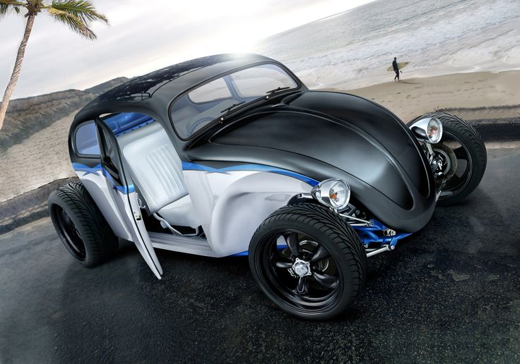 Triple Tone Rod: Vw Beetles, Volkswagen Beetles, Full Brushes, Cars Education, Rats Rods, Crows Cars, Hot Rods, Fusca Hot, Black Crows