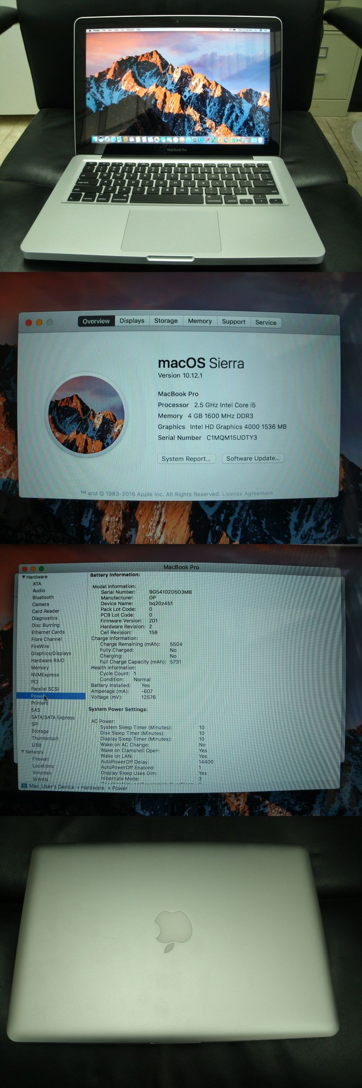 "general for sale: New Macbook Pro 13"" 2012 Intel I5 2.5Ghz*4Gb Ddr3 Ram*500Gb Hdd*Msoffice2011 BUY IT NOW ONLY: $649.0"