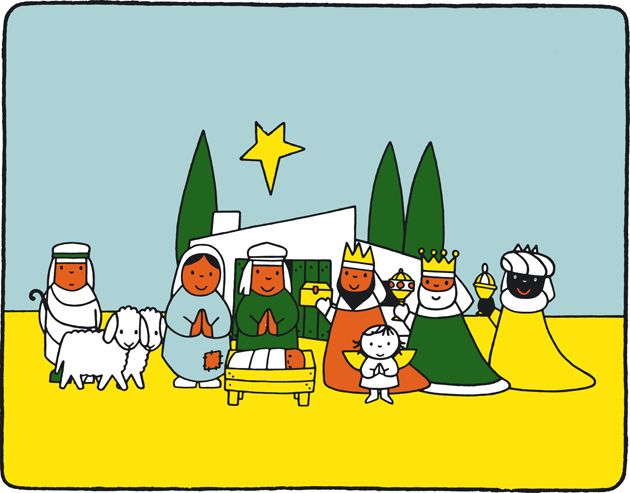 Would love to emboider this nativity scene of Dick Bruna!!
