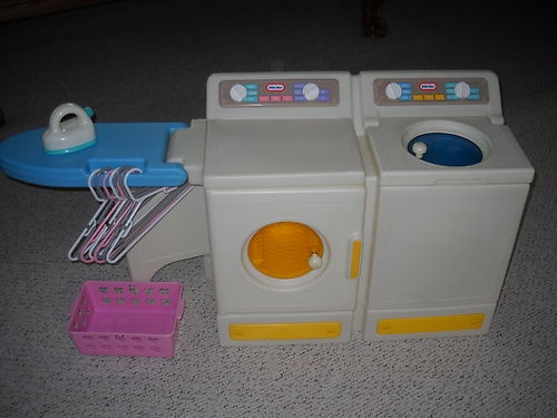 little tikes washer dryer and ironing board i 39 d rather use this again than the real thing. Black Bedroom Furniture Sets. Home Design Ideas