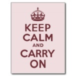 wine keep calm and carry on postcard