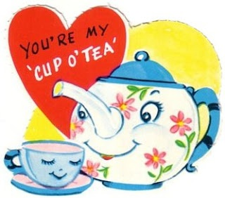 """vintage Valentine's Day cards -- inspiration for the kid's """"tea""""chers!!!"""