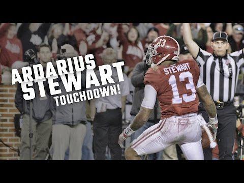 ArDarius Stewart TD! Auburn's defense kept its struggling offense in the game until a pivotal fourth-down conversion by Alabama. #IronBowl #Alabama #RollTide #Bama #BuiltByBama #RTR #CrimsonTide #RammerJammer