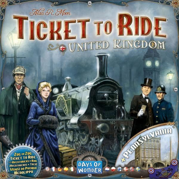 Ticket to Ride: UK Map! Choo choo all over Cardiff and the rest of the UK!