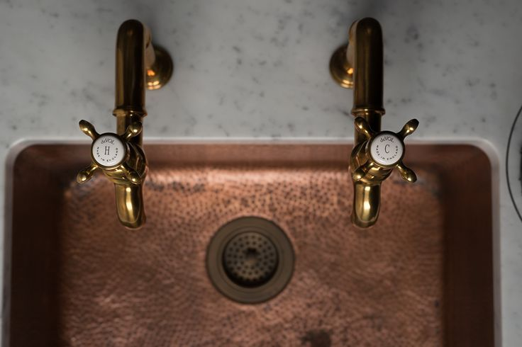 Beautiful Vintage Inspired Devol Aged Brass Taps By Perrin