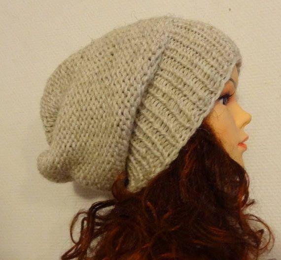 Sacking Winter Hat  Autumn Accessories  Slouchy Beanie Hat