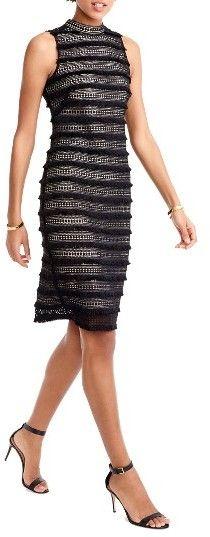 Women's J.crew Fringy Lace Sheath Dress