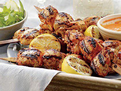 Buttermilk-and-Honey Chicken Kabobs