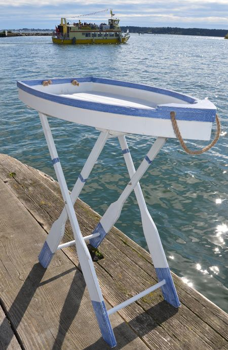 Folding boat tray table, great for a make shift bar set-up!