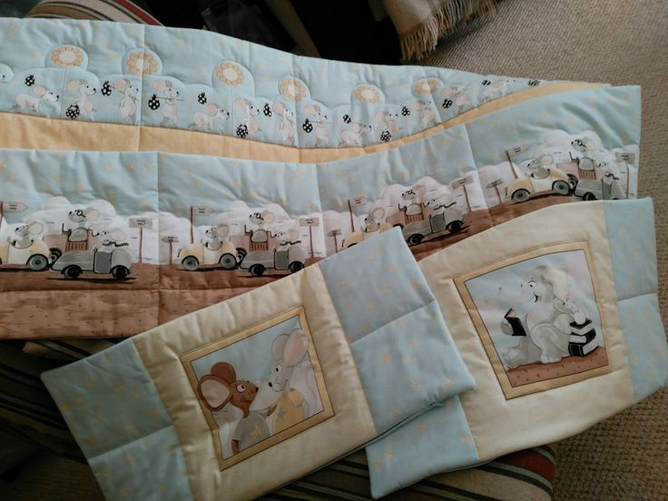 Pillow shams for crib bumpers