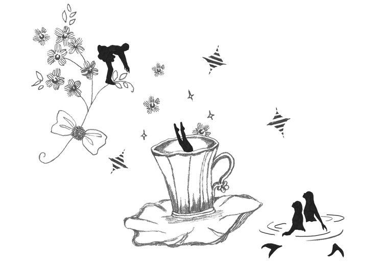 #line #animal #frame #枠 #動物 #広告 #花 #flower #デザイン #お洒落 #可愛い #線画 #コラージュ #collage #illustration #kanakobayashi #art #illust