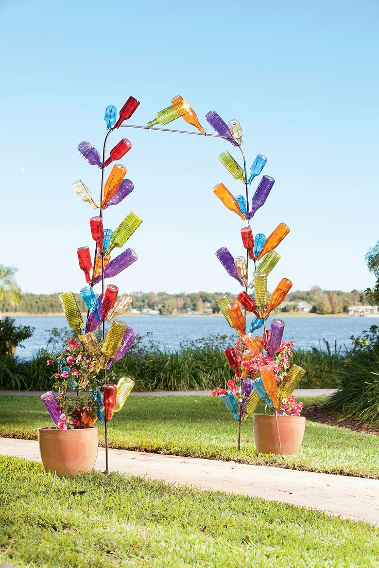 The Bottle Arch: A Sparkling Glass Bottle Tree Sculpture that You Design