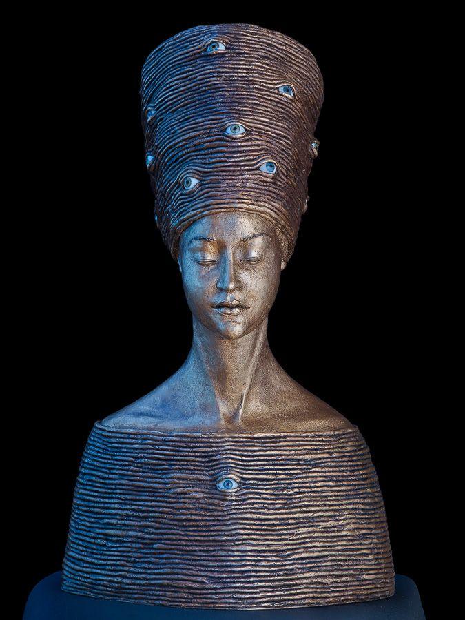 Achtsame  Skulptur Aus Bronze Von Malgorzata Chodakowska