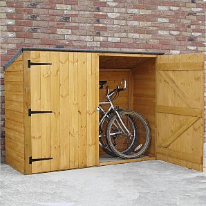 Fairwood Pent Bike Store - Storage for up to 3 bicycles £109. Probably a bit naff and cheap looking