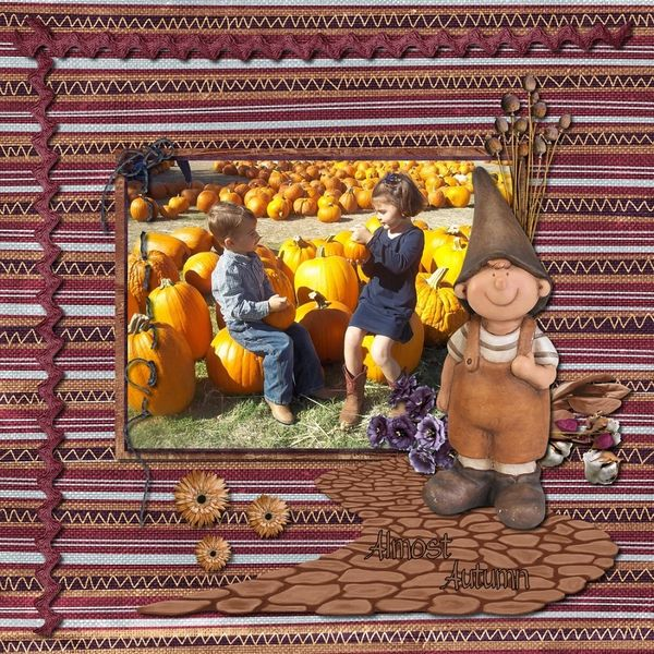 Layout by Sassy Scraps. Kits by Nutkin Tailz Designs: Almost Autumn 1…
