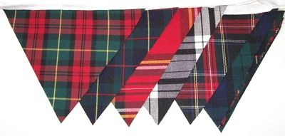 Tartan bunting...oh, how I love traditional tartans!