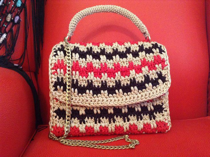 Handmade crochet bag borsa al uncinetto sac à crochet crossbody shoulder evening bag unique design