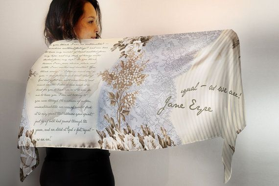 Jane Eyre Book Scarf / Book Quote Scarf / by EnjoyTheTraffic